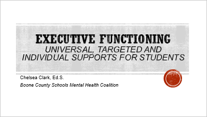 Executive Functioning for Administrators Title Slide