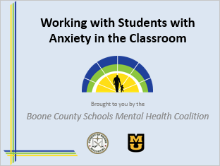Managing Student Anxiety - Primary & Elementary Title Slide