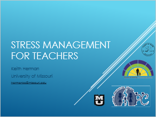 Stress Management for Teachers Title Slide